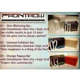 Skin whitening bar soap