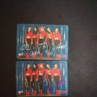 EXID簽卡 YES CARD(如一張)