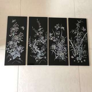 Black Lacquer Art with mother of pearl - Price Reduced