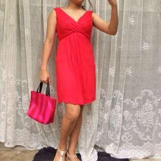 Dark pink X dress