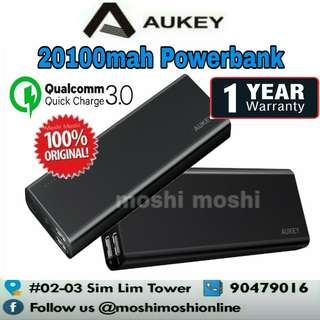 Aukey 20100mah Powerbank with Qualcomm Quick Charge 3.0