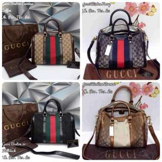 Sale Tas gucci speddy boston canvas 30cm