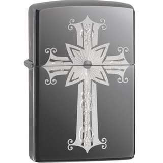 Zippo Black Ice Cross Design 29515