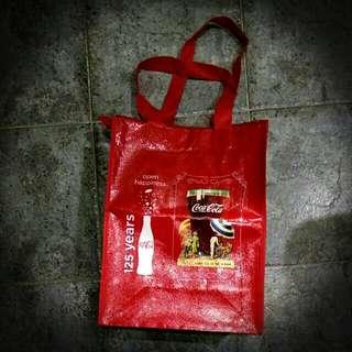 經典可口可樂125週年紀念購物袋 classic coca cola tote bag w zip