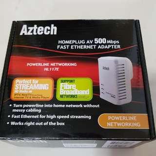 Aztech Homeplug HL117E 500mbps