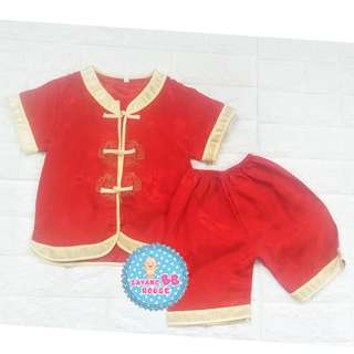 CNY Traditional Chinese New Year Kids Boy Set - Red and Yellow