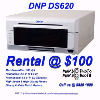 Photobooth Printer Rental:  DNP Printer for RENT (Fast & High Quality)
