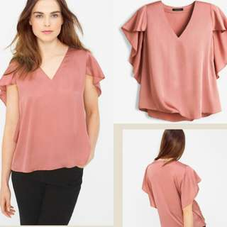 White House Pink Cape Blouse