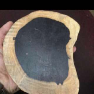 {FS138} 阴阳黑金刚木 Original Raw Penewar Hitam Slice Log