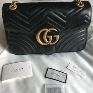Gucci Marmont Matelassé Medium Leather Shoulder Bag
