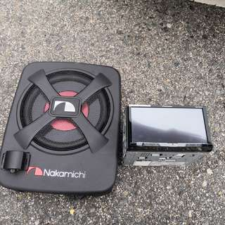 Pioneer 5850 BT + Nakamichi NBF100