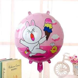Happy birthday balloon bunny cony line