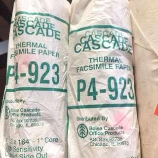 Thermal facsimile paper