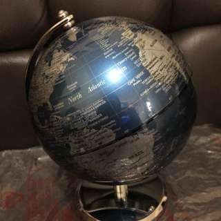 Logon 地球儀 書房擺設 藍色 高清 金屬