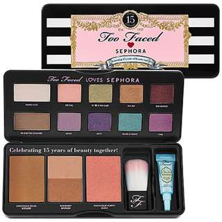 Authentic Too Faced Loves Sephora 15 Years Of Beauty Palette [LIMITED EDITION]