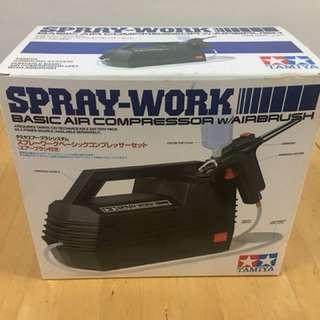 Tamiya Spray-Work (Basic Air Compressor with Airbrush)