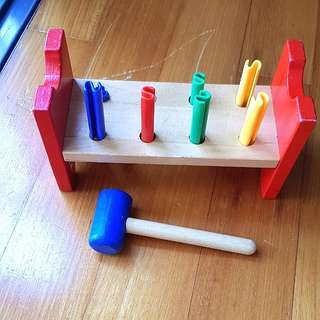 Ikea Wooden Toy toddler hammering block MULA