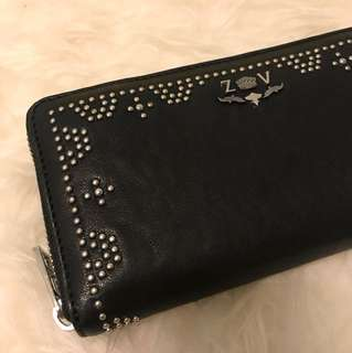 ZADIG&VOLTAIRE PARIS LEATHER STUDDED WALLET
