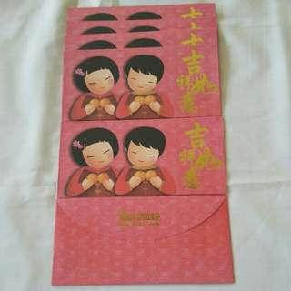 6 pcs *The Face* Red Packet / Ang Pow / Hong Bao / Ang Pao