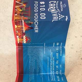 Prudential Marina Bay Carnival Food Voucher