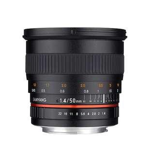 Samyang 50mm f1.4 AS UMC Lens (Canon, Nikon and Sony E Mount) *NEW*