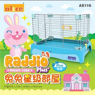 NEW INSTOCK Alice Blue Rabbit Cage with pull out tray