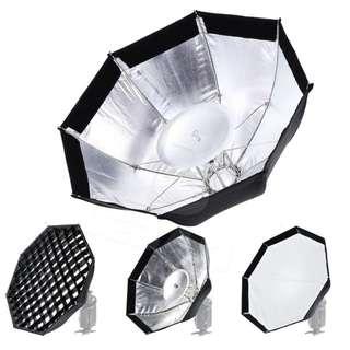 Godox Ad-s7 Ad360II Ad200 Flash Speedlite 45cm Umbrella Design Honeycomb Grid Octagonal Softbox, Multifuctional Ad360 Softbox Accessories