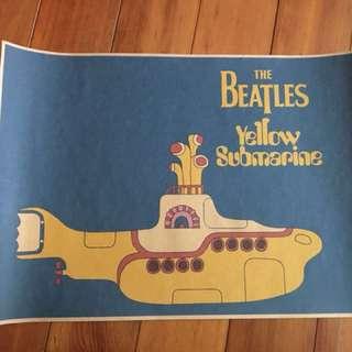 🚚 The Beatles 披頭四 潛水艇海報