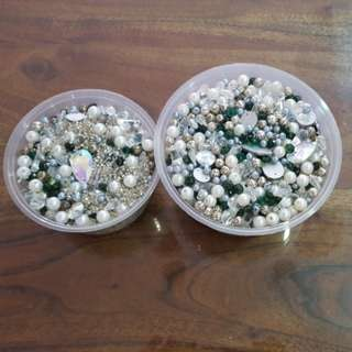 Huge lot of plastic beads and seed pearls