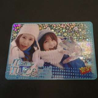 TWICE MOMO and Hirai閃卡 yes card