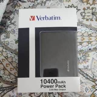 Verbatim叉電器/尿袋 全新 買機送 10400mAh