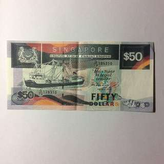 73G128310 Singapore Ship Series $50 note.