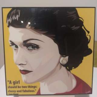 REDUCED in 2019! BNIP - Chanel Pop Art painting/quote/decor