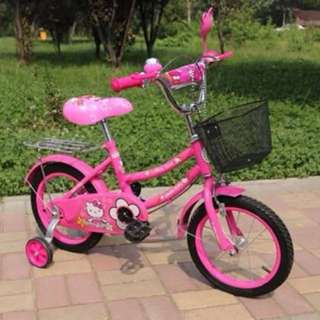 Pink Hello Kitty Bike with Balancer