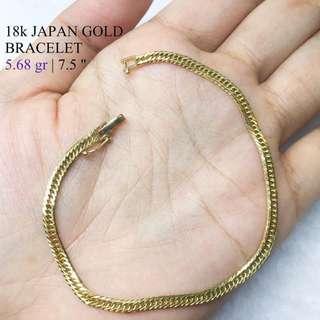 18k Japan Gold 5.68g 7 1/2