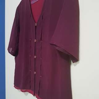 Red Wine / Maroon Blouse