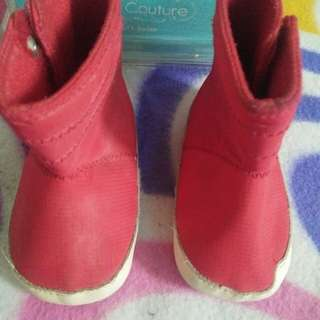 Crib Couture Red Boots
