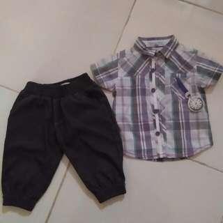 Periwinkle Polo & Pants