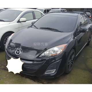 3500交車 全額貸 超額貸 2010年 精品改裝 MAZDA3 2.0四門黑色