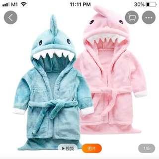 Shark baby bathrobe towel