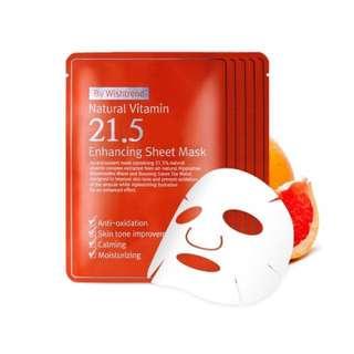 READY STOCKS | By Wishtrend Natural Vitamin 21.5 Enhancing Sheet Mask