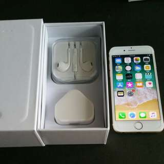 "99%  gold colour iPhone 6 64gb, Hong Kong zp version,  full set with box.  4.7"" original,"