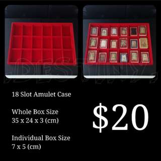 18 Slot Amulet Casing Tray Red (New)