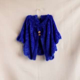 Royal Blue Winter Cover up