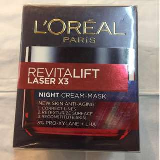L'oreal Paris Revitalift Laser X3 Night-Cream Mask 50mL
