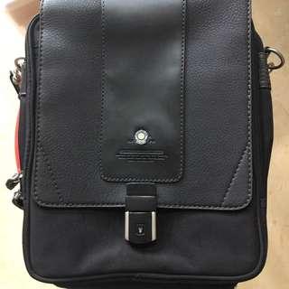 UK army黑色公文包公文袋斜背包