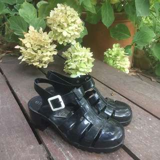 🖤 black chunky sandals 🖤