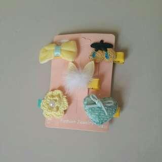 New paket jepit hairpin anak yellow
