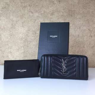 YSL 358094 Women Fashion Leather Zip Wallet