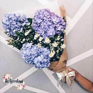 VALENTINE'S DAY Hydrangeas Flower Bouquet
